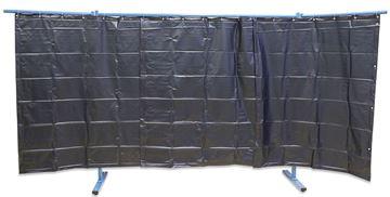 Bild von Schutzwand 3-teilig Folienvorhang