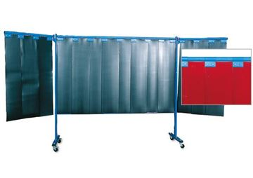 Image de Mur protection 3-parties à lamelles rideau épaisseur 2mm