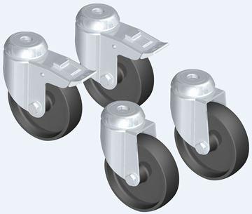 Image de Jeu de roues pour mur protecteur